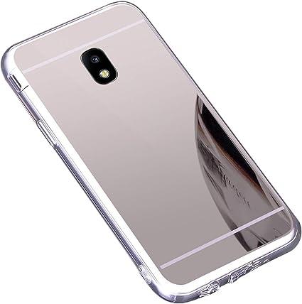 Coque Galaxy J7 2017,Miroir Housse Coque Silicone TPU pour Samsung Galaxy J7 2017,Surakey Bling Briller Diamond Coque Miroir Etui TPU Téléphone Coque ...