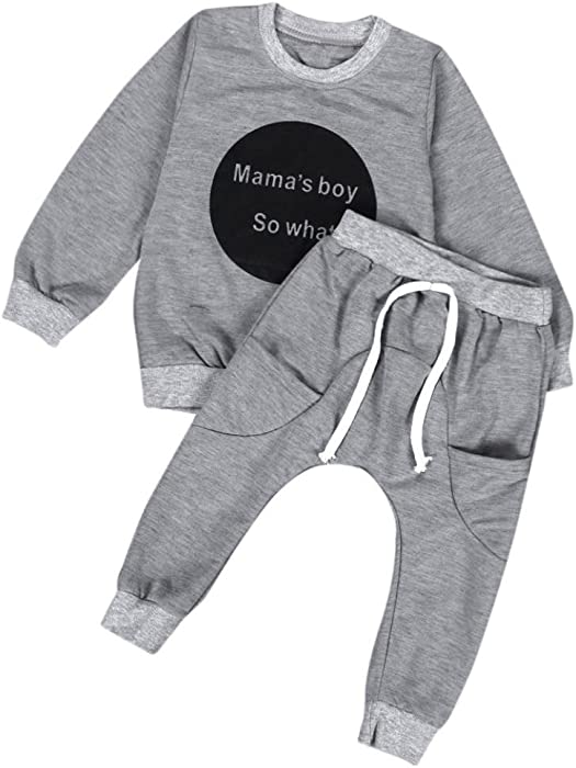 dc6e2c3271e8 Amazon.com  Napoo Clearance Toddler Kids Baby Girls Boys Letter ...