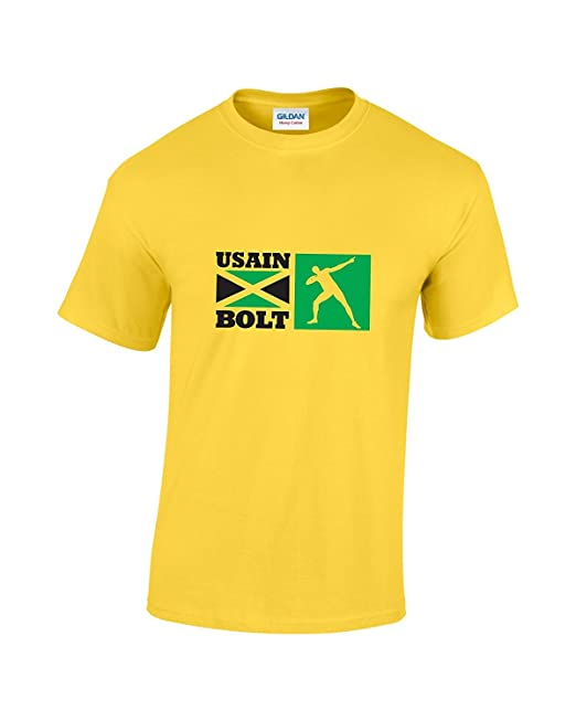 Maglietta itAbbigliamento Usain Sportiva Jamaican BoltAmazon EIH29WDY