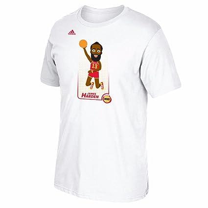 4b60263141ac James Harden Houston Rockets NBA Adidas White  quot Adicon Dunk quot   Player Graphic Print T