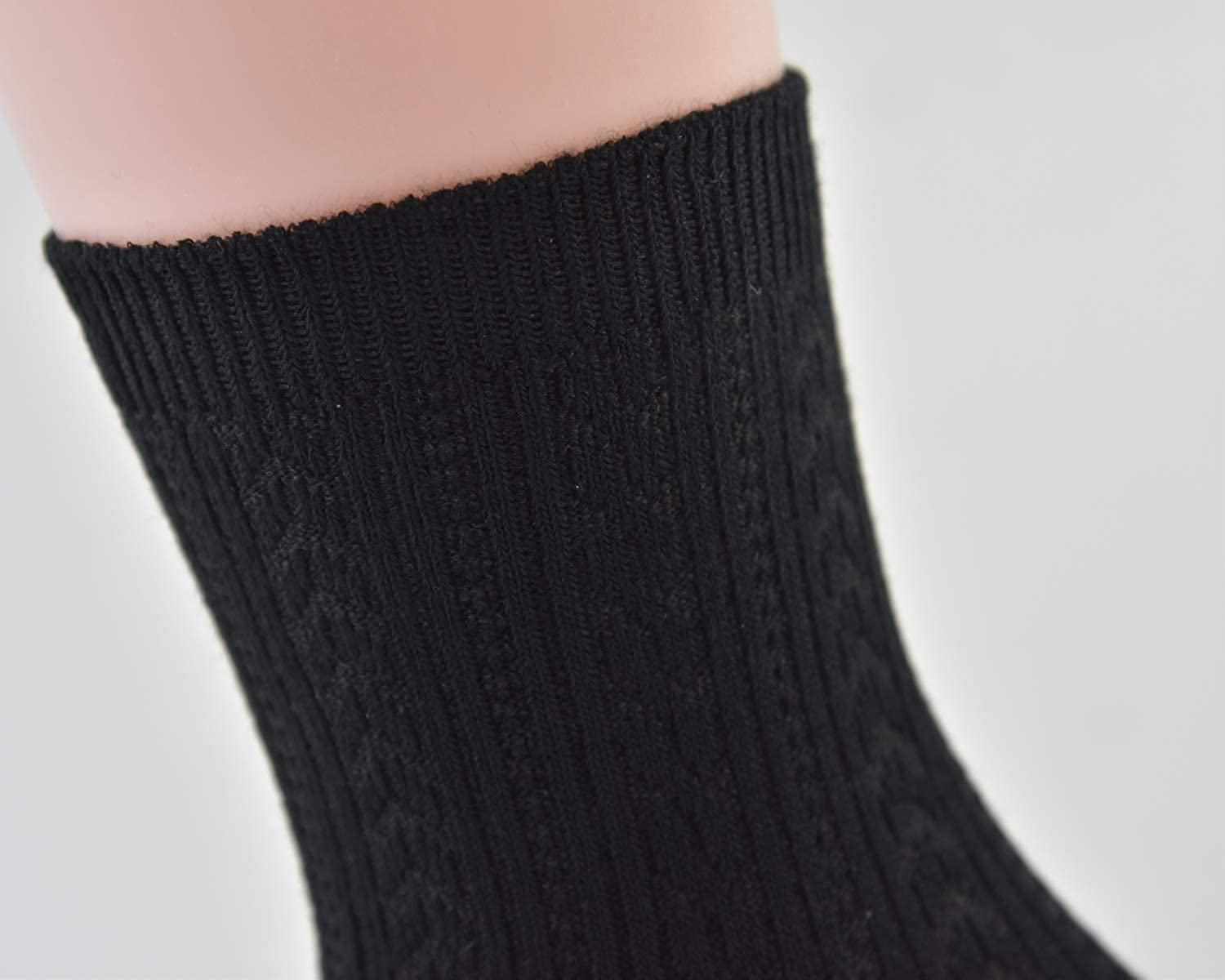 Super Soft and Comfortable High Ankle Socks 3 Pack Womens Cotton Casual Crew Socks