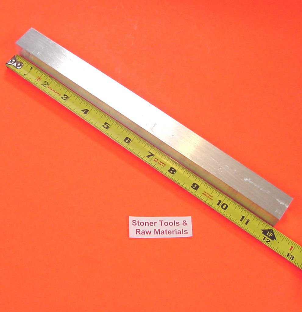 """2 Pieces 1/"""" X 1/"""" ALUMINUM 6061 SQUARE BAR 36/"""" long T6511 Solid New Mill Stock"""