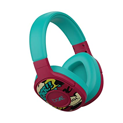boAt Rockerz 550 Over-Ear Wireless Headphone with Ergonomic Aesthetics, Plush Padded Earcups, Immersive Audio, Bluetooth v5.0 & Upto 20H Playback(Maroon Maverick)