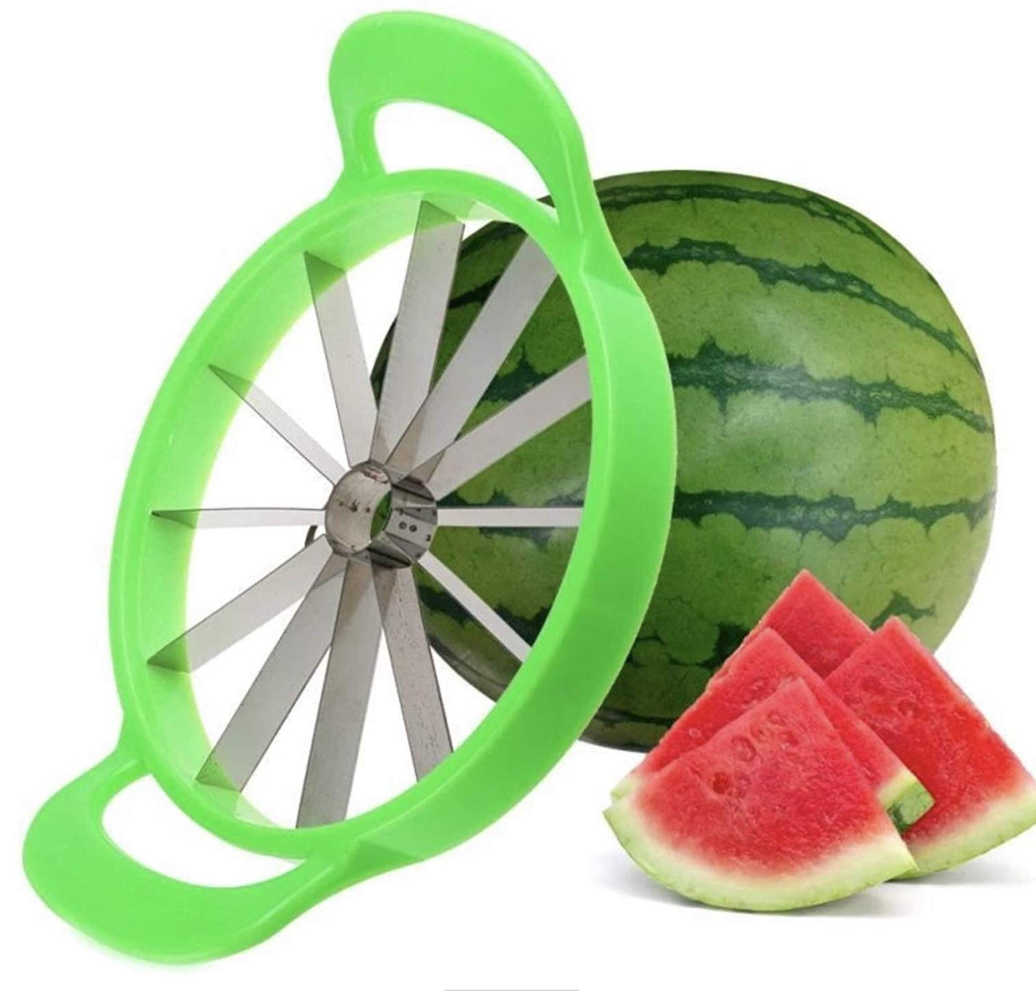 Omaky Stainless Steel Watermelon Slicer Cutter Knife Corer Fruit Vegetable Tools Kitchen Gadgets (1) by Omaky
