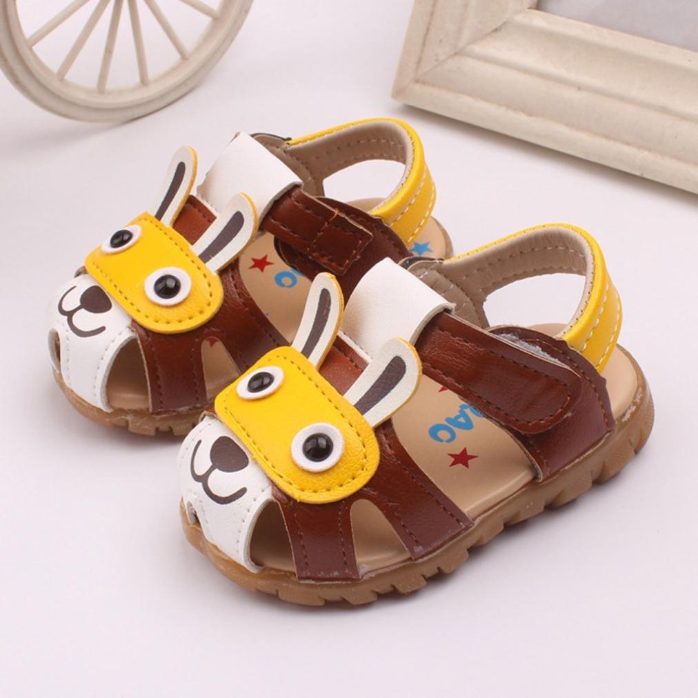 Enfants gar/çons Chaussures d/ét/é avec des lumi/ères Clignotantes Sandales Chaussures de Dessin anim/é Transer pour 0-36 Mois B/éb/é