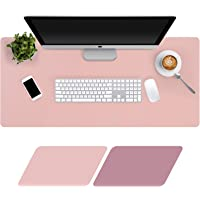 Large Desk Pad 90x40cm, Double-Sided Desk Mat, PU Leather Gaming Mouse Pad for PC Laptop, Waterproof Mouse Keyboard Mat…