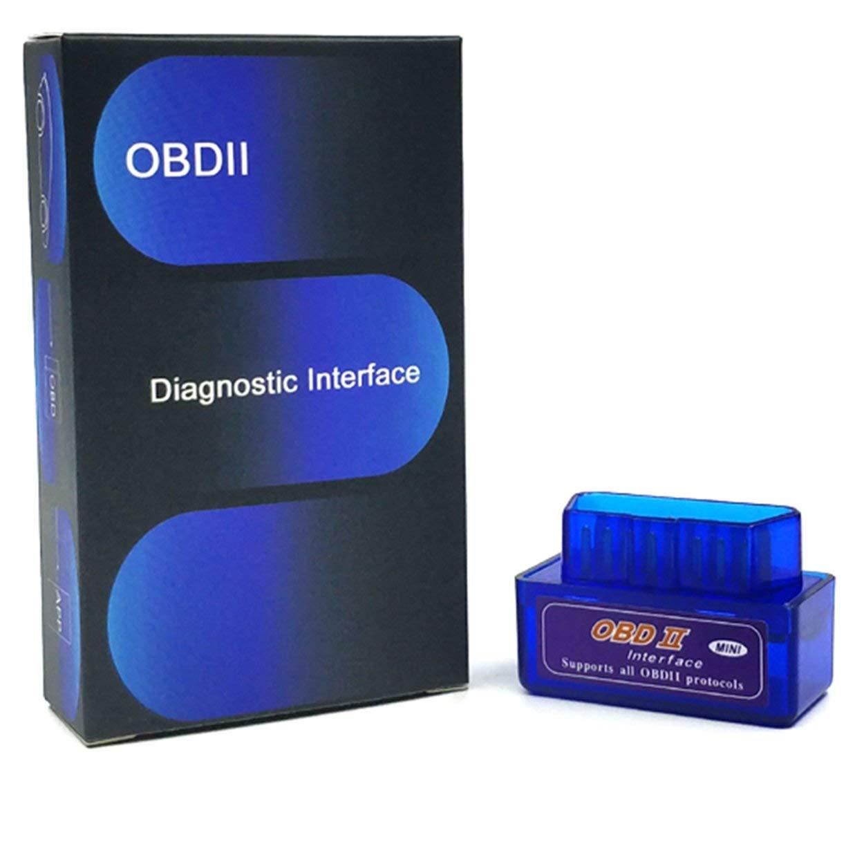 Lorenlli Outil de Diagnostic de Voiture Mini ELM327 Bluetooth V2.1 OBD2 Elm 327 Bluetooth adapté pour Android/Symbian pour Le protocole OBDII
