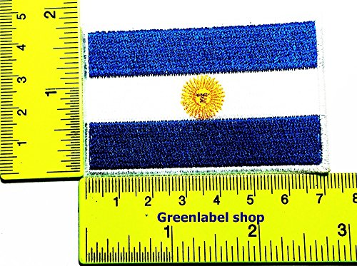Each country's flag Argentina flag Patch Logo Sew Iron on Embroidered Appliques Badge Sign Costume Send Free (Argentina United Nation Costume)