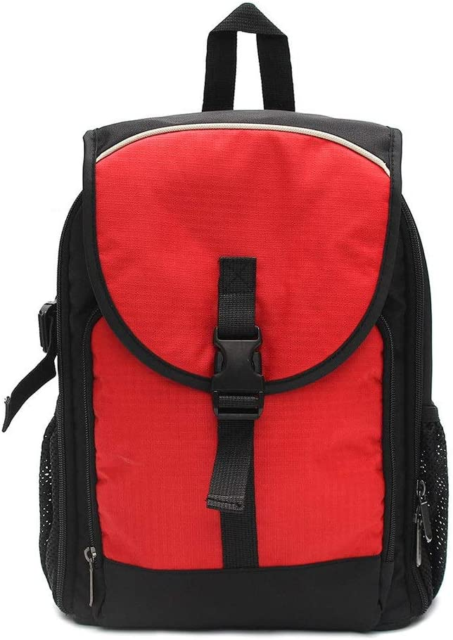 Color : Red, Size : 27.5 x 12.5 x 34CM Camera Sling Bag Waterproof Backpack Camera Bag with Padded Bag for DSLR Camera Lens Accessories Adjustable Padded Dividers