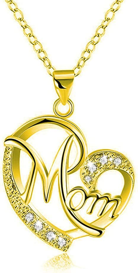 Charm Mother/'s Day Gift for Mom Friend Red Crystal Heart Necklace Pendant*~*