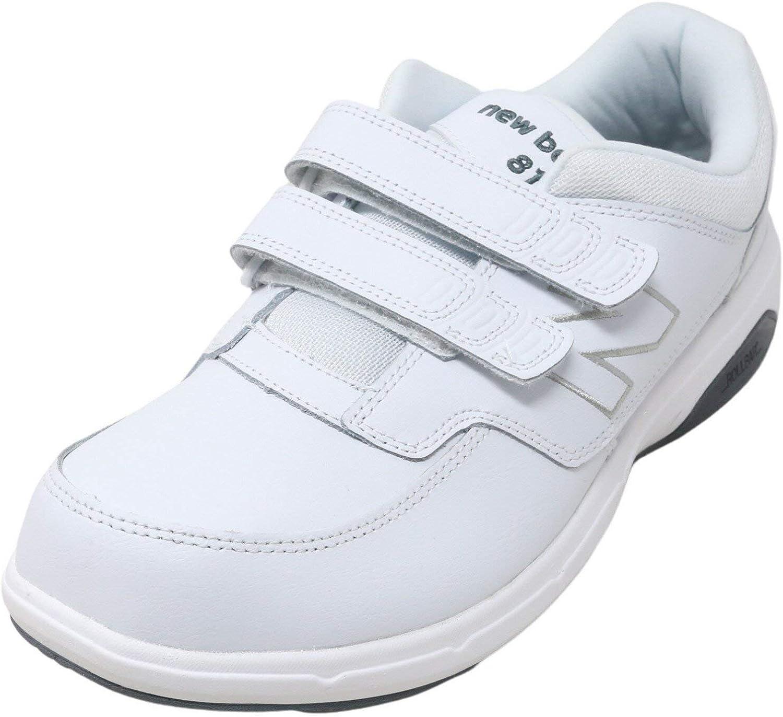 813 Hook and Loop Walking Shoe White