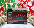 Stay Off the Roof Super Bright LED Christmas Lights Set - Red - 200-Piece - 55 ft Lighted Length, Connect up to 15 Sets - Holiday Mini Pack