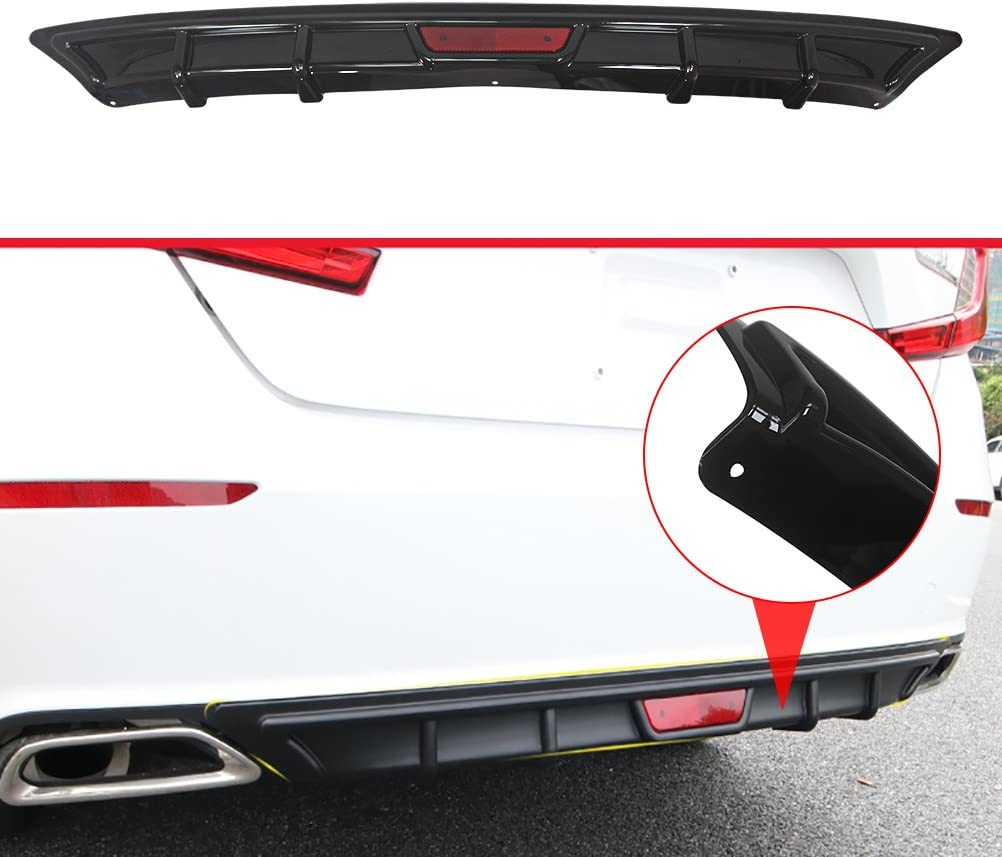 ABS Gloss Black Front Bumper Hood Grille Cover W//Eyelid Molding Trim NINTE Grill Covers for Honda Accord 2018 2019
