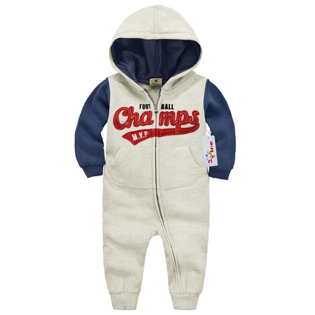 Vine Hooded Romper for Baby Newborn Cotton Long Sleeve Bodysuits Zipper Outfits Vine Trading Co. Ltd C160728HY00329V