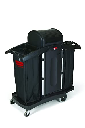 Rubbermaid Executive Series – Carro de limpieza, color negro
