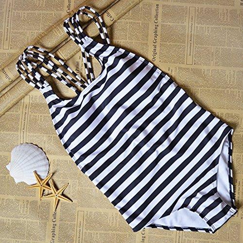 Donna Indietro Costumi Bianco da Interi da BYD Bagno Bikinis Benda Striscia up Costumi Push Croce Coordinati 5xAgzqvw