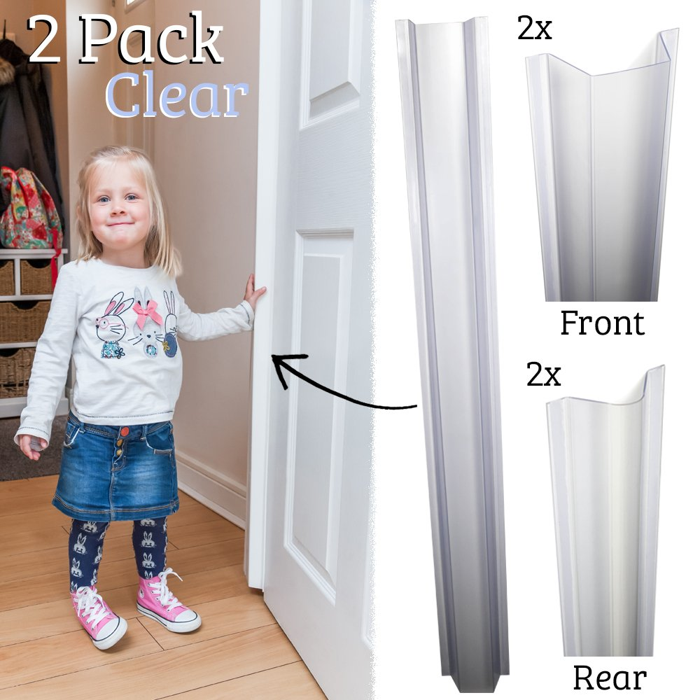 Cardea Child Safety Door Finger Pinch Guard Hinge Protectors Pack - Clear … (2 Pack)
