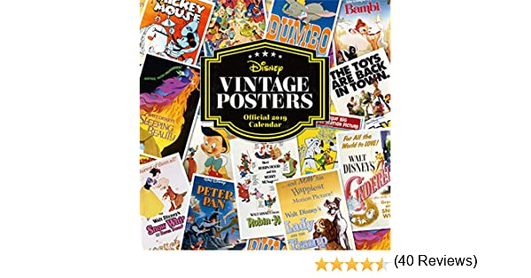 Disney Vintage Posters Official 2019 Calendar - Square Wall ...