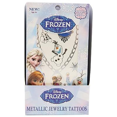 GLIMMER BODY ARTS Disney Frozen 2 Sheets Metallic Jewelry Tattoos Toy, Blue B00XH0N8OK: Toys & Games