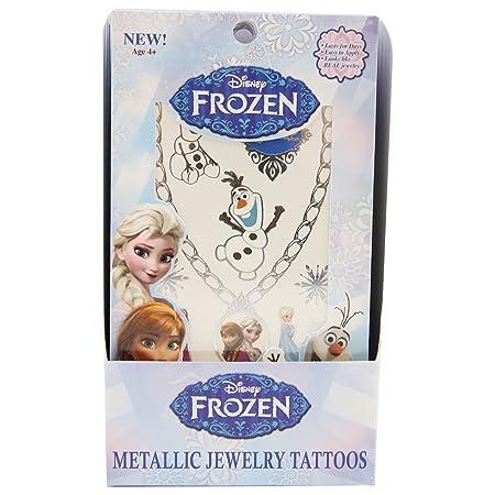 Disney Frozen 2 hojas metálico joyería tatuajes: Amazon.es: Hogar
