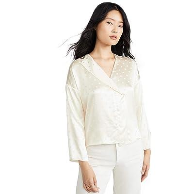 Vince Women's Halo Dot Drape Blouse: Clothing