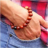 Wood Bead Bracelet, Buddhist Healing Energy Balance Mala - Unisex