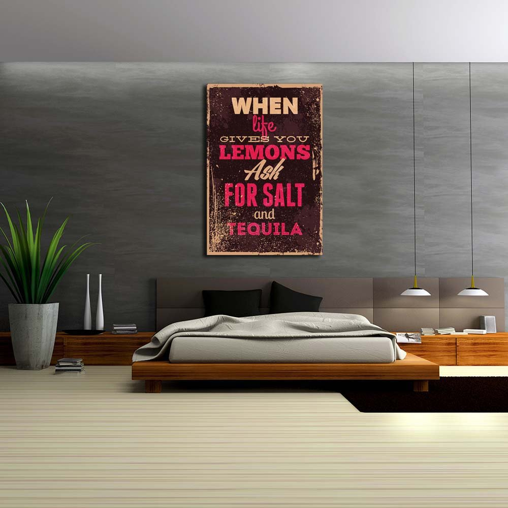 Pitaara Painting Box Vintage Typography Unframed Canvas Painting Pitaara 24 x 35.5inch 4a6cf6