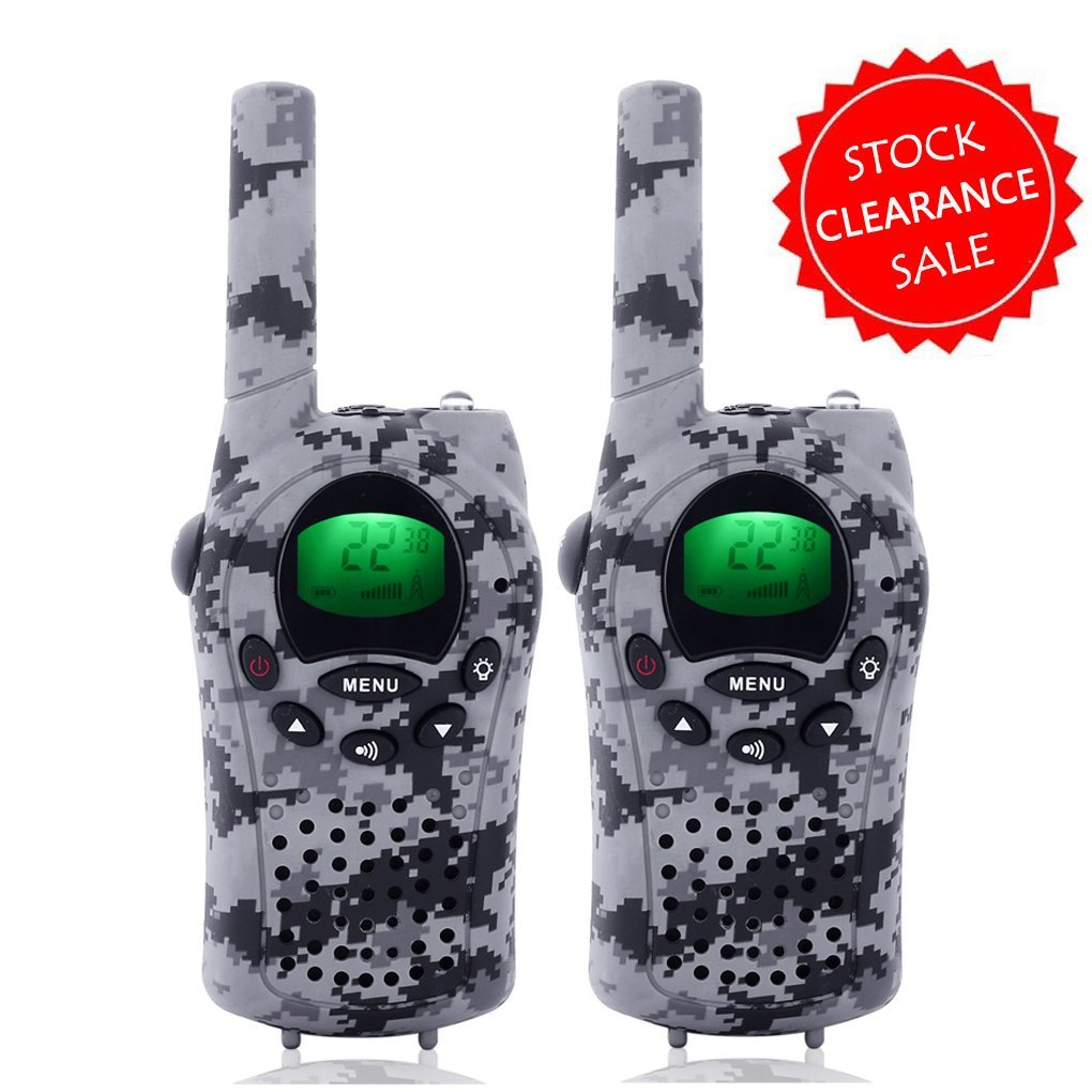 Camkiy Gifts Toys for 4-12 Year Old Boys and Girls Army Green Walkie Talkies for Kids, Teen Birthday 17062101