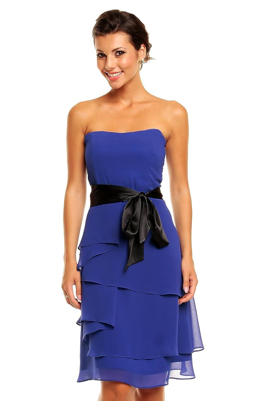 Chiffon Kleid im Stufen-Look mit Schleife, Cocktailkleid Abendkleid ...