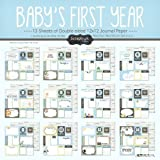 Scrapbook Customs Baby Boy First Months Scrapbooking Kit