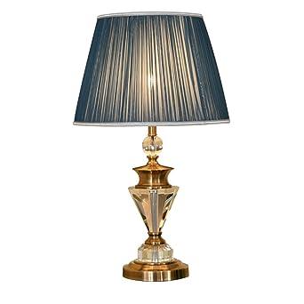 Voller Kupfer Kristall Tischlampe Retro Wohnzimmer Dekoration Kupfer