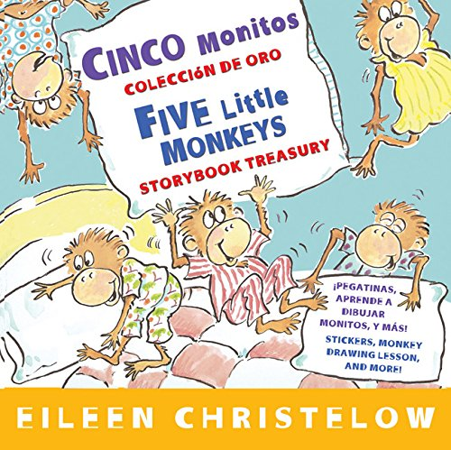 Cinco monitos Coleccion de oro/Five Little Monkeys Storybook Treasury (A Five Little Monkeys Story) (Spanish and English Edition) by HMH Books for Young Readers (Image #3)