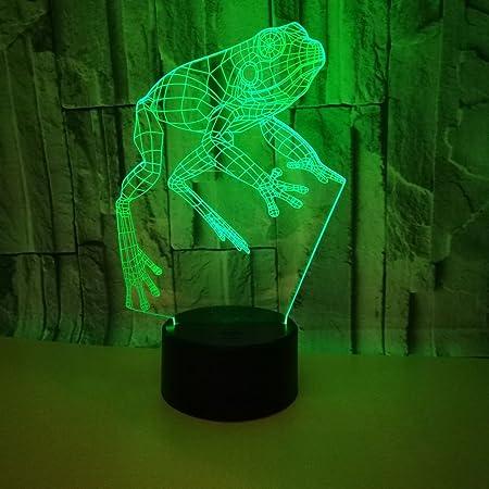 RUMOCOVO/® /Ángel Colorido LED Luz De Noche 3D Ilusi/ón USB Ambiente L/ámpara De Mesa Para Ni/ños Beb/é Decoraci/ón L/ámpara De Habitaci/ón Regalo de Navidad Hogar Iluminaci/ón