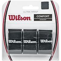 Wilson Unisex Adult 2-WRZ403000 Ultra Grip Wrap Bk - Black, One Size (Pack of 3)
