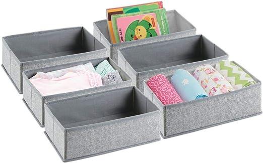 mDesign Organizador para armarios (juego de 6) – Cajas de plástico ...