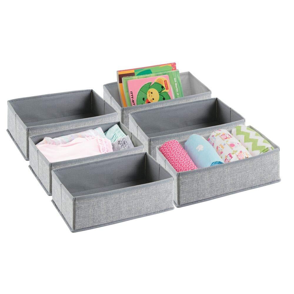 mDesign Organizador para armarios (juego de 6) – Cajas de plástico para ropa,