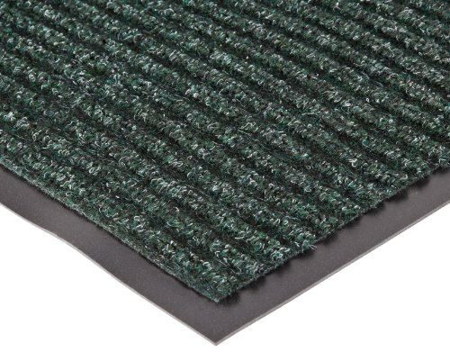 """NoTrax 109 Brush Step Entrance Mat, for Lobbies and Indoor Entranceways, 3' Width x 4' Length x 3/8"""" Thickness, Hunter Green"""