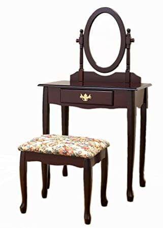 3 Piece Vanity Set.Frenchi Home Furnishing Cherry 3 Piece Vanity Set