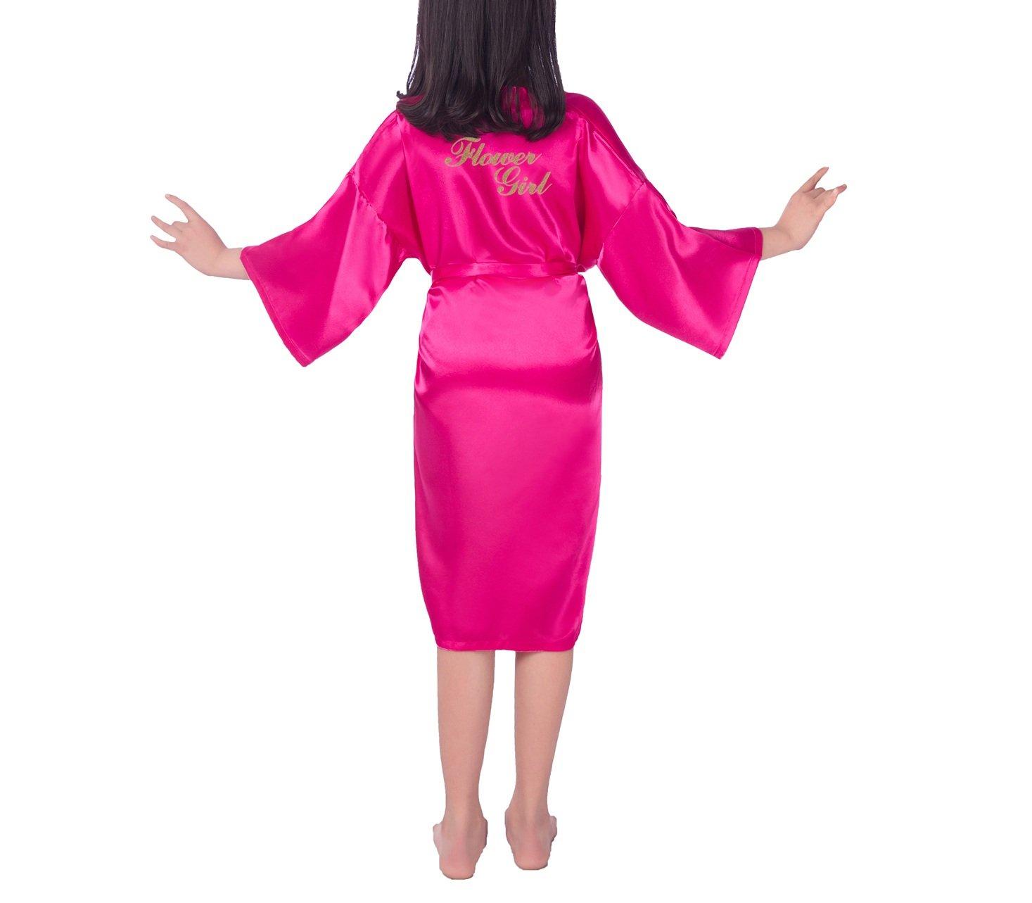 SexyTown - Albornoz de satén para boda, fiesta, bata con purpurina ...