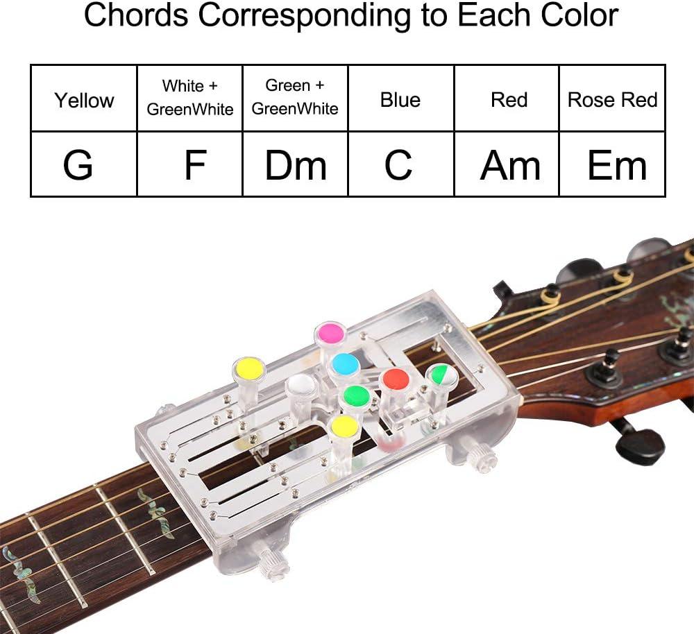 Chord Buddy - Sistema de aprendizaje de guitarra, instrumento de aprendizaje, herramienta de aprendizaje de guitarra con nueve acordes universales para entrenador principiante: Amazon.es: Instrumentos musicales