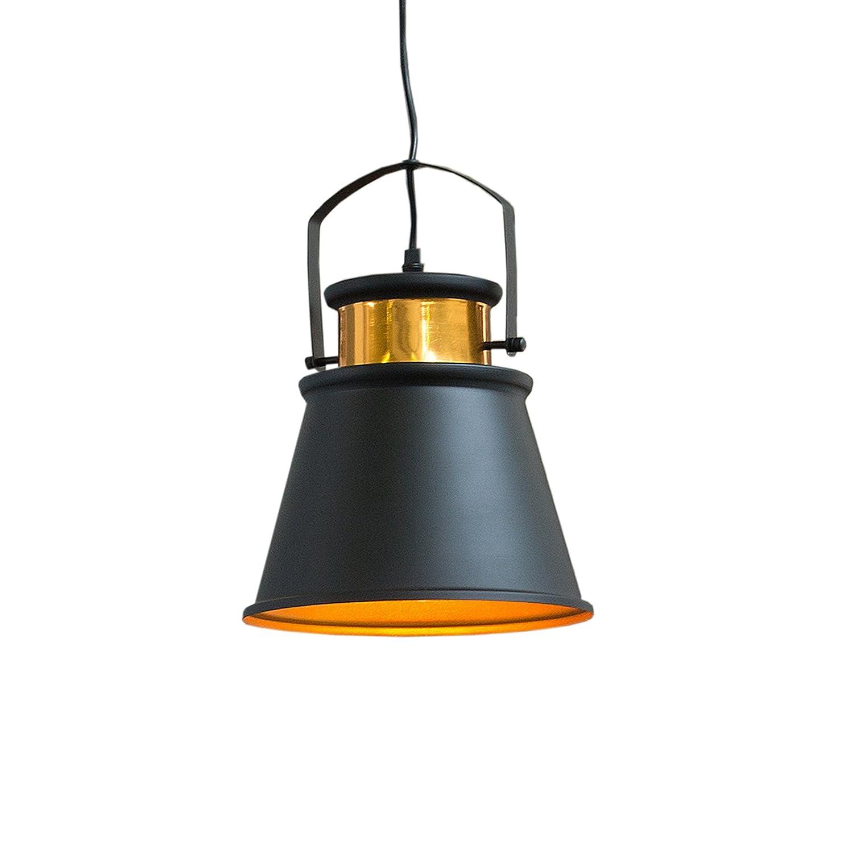 Retro Hängeleuchte LUZ II schwarz gold Industrial Design Design Design E27 Hängelampe Pendelleuchte Industrielampe Industrieleuchte 4c506c