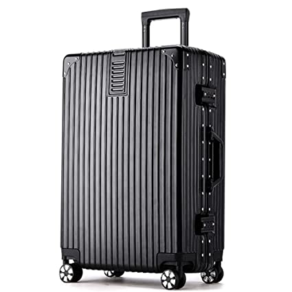 D_HOME maletín de Maletas Maleta con Ruedas de Aluminio Maleta Universal ABS + Material de la