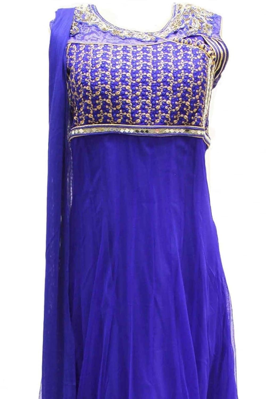 CSX1168 Royal Blue and Gold Churidar Suit Designer Indian Bollywood Chudidar