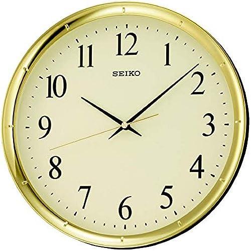 SEIKO 12″ Ultra-Modern Gold-Tone Wall Clock