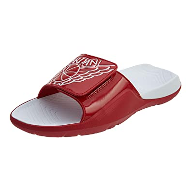 e50d5998620 Nike AA2517-605  Men s Jordan Hydro 7 Gym Red White Slide Sandal (