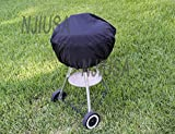 Round Charcoal Kettle BBQ Grill 26″ – 31″ Diameter EZ Use Cover w/ Drawstring:New by WW shop