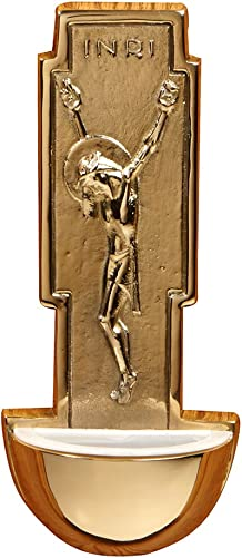 Autom Small Brass Wall Holy Water Font