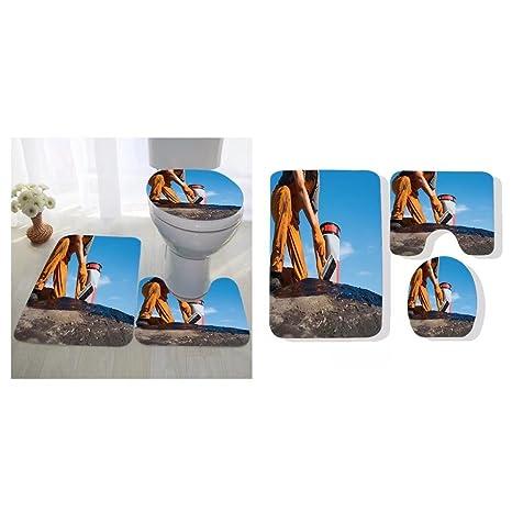 Super Amazon Com Sylvain Parent Three Piece Toilet Seat Pad Pdpeps Interior Chair Design Pdpepsorg