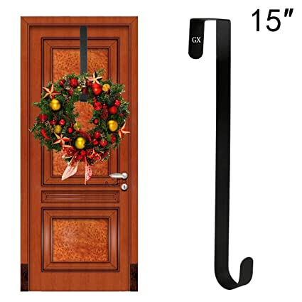 Bon GameXcel Wreath Hanger Over The Door   Larger Wreath Metal Hook For  Christmas Wreath Front Door