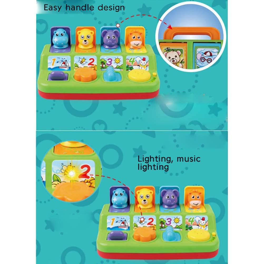 Egosy Pop Up Interactivo Juguete De Animales con M/úsica Sonidos Y Luces De Animales Actividad Educativa Temprana Juguete De Regalo para Ni/ños De A/ños Viejos Beb/és Ni/ños Peque/ños Ni/ños Y Ni/ñas